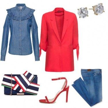 Outfit Rosso di giorno....