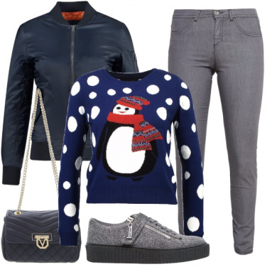 Outfit Maglioncino a tema