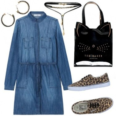 Outfit Chemisier di jeans