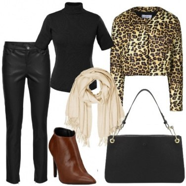 Outfit Trapuntino animalier