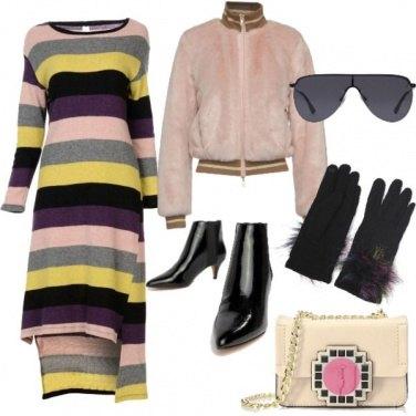 Outfit Urban con le maxi righe