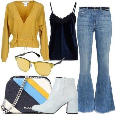 Outfit Il jeans a zampa