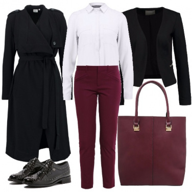 Outfit Toni bordeaux