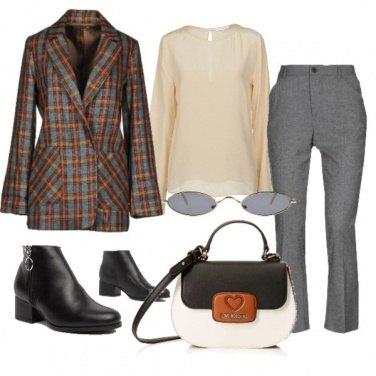 Outfit Quadri ed ovali