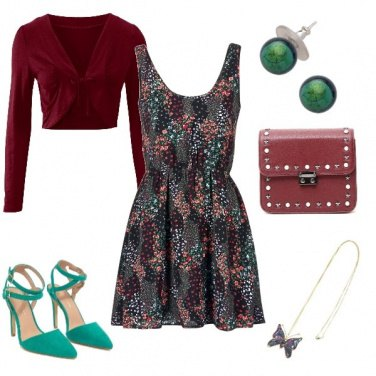 Outfit Red and green happy hour