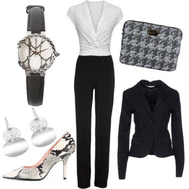 Outfit Black and White in ufficio