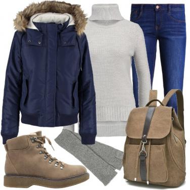 Outfit Jeans e giubbino