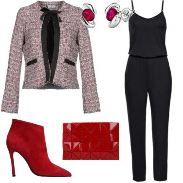 Outfit Chanel rosso