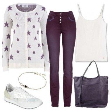Outfit Viola stellare