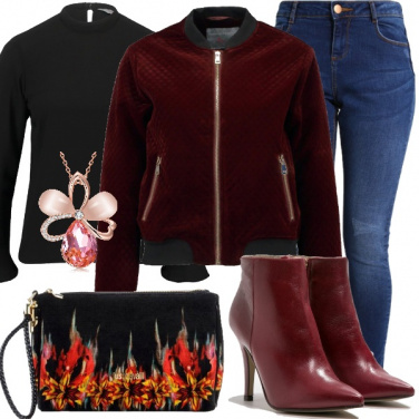 Outfit Tacco e bomber
