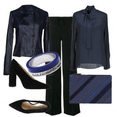 Outfit Blu come la notte
