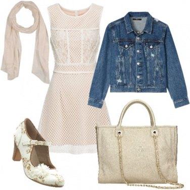 Outfit Jeans e frou frou