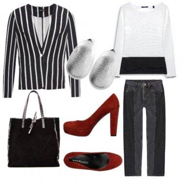 Outfit Décolleté rosso