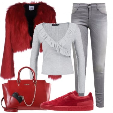 Outfit Ecopelliccia trendy