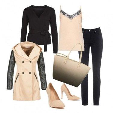 Outfit In nero e cipria