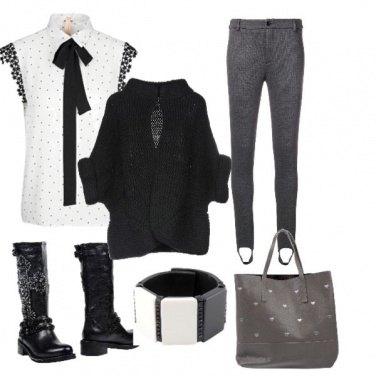 Outfit Un po' bon ton un po' dark