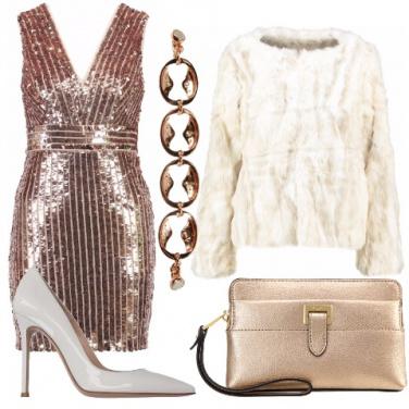 Outfit Rosa gold per le feste