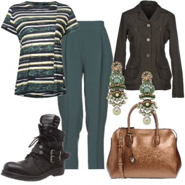 Outfit Bronzo verde