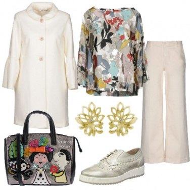 Outfit Foglie, fiori e colori