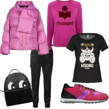 Outfit Fucsia d\'inverno