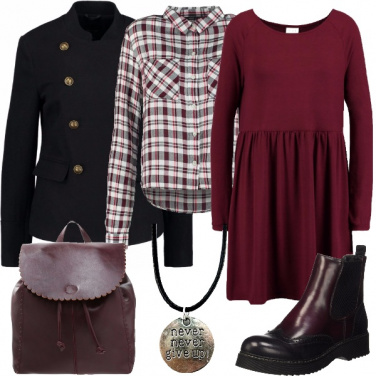 Outfit All\'università non mollare mai