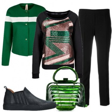 Outfit Sportiva in verde