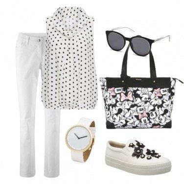 Outfit Allegra in bianco e nero
