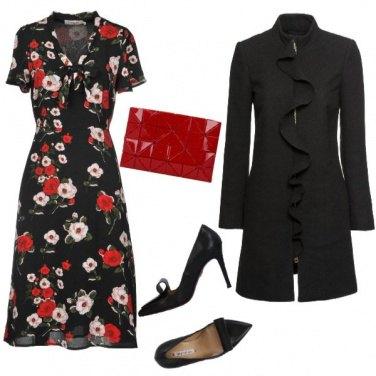 Outfit Il cappotto con la rouche