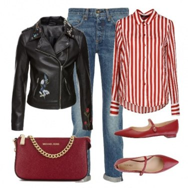 Outfit Basic red3