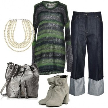 Outfit Maglione over