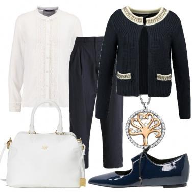 Outfit In blu e bianco non si sbaglia mai