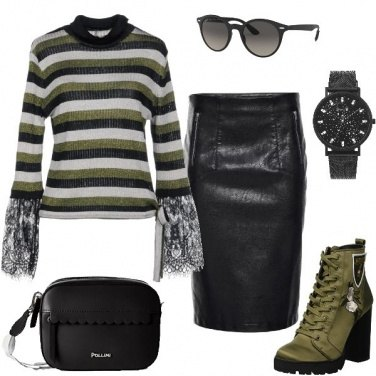 Outfit Pullover a righe