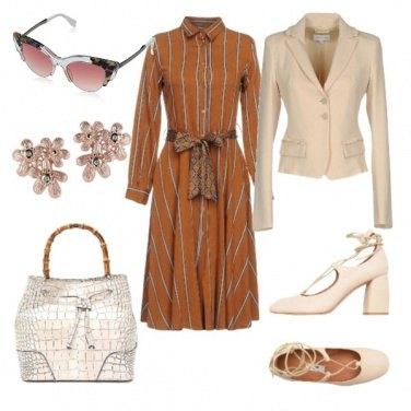 Outfit Abito lungo marrone