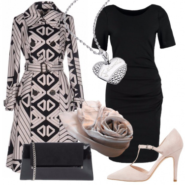 Outfit La classe del tubino nero