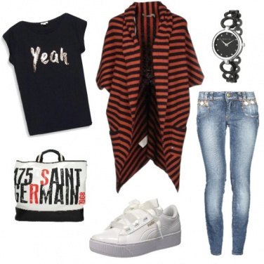Outfit Righe autunnali