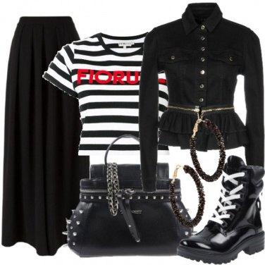 Outfit Righe e cerchi