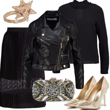 Outfit Cenerentola rock