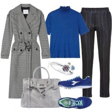 Outfit Gessato e check