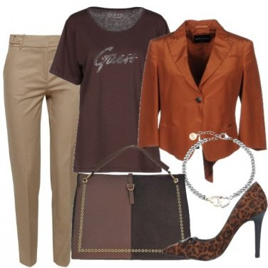 Outfit Il tocco animalier