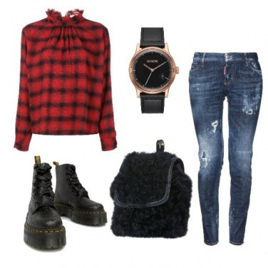 Outfit Le Dr Martens glitterate.