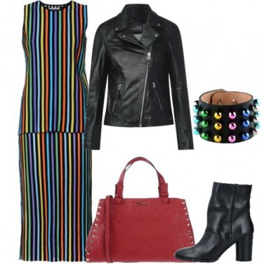 Outfit Rock a righe