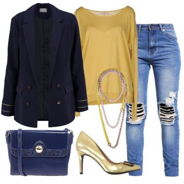 Outfit Il jeans con l\'oro
