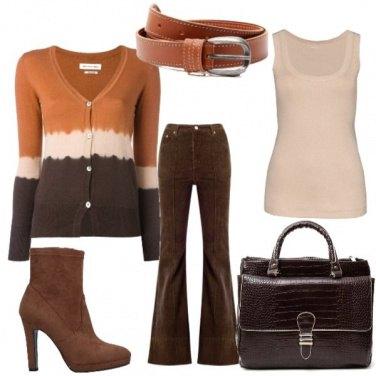 Outfit Color caffè