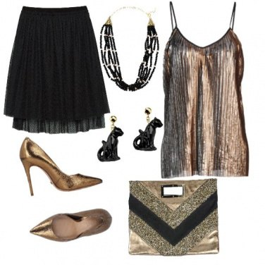 Outfit Metallic gold