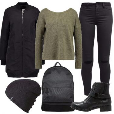 Outfit A scuola con grinta