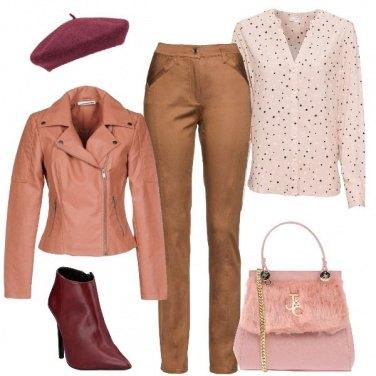 Outfit Pantaloni color cammello