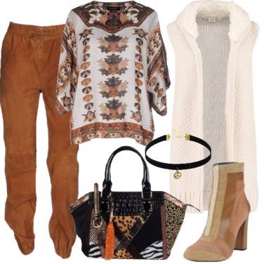 Outfit Stile boho con i colori della terra