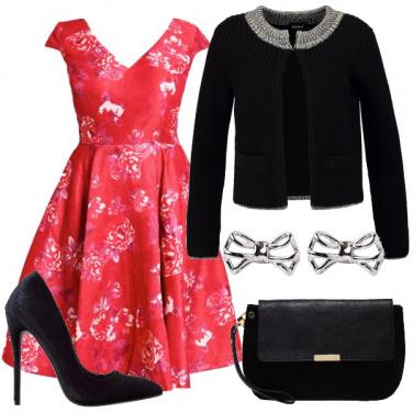 Outfit Una curvy romantica a natale