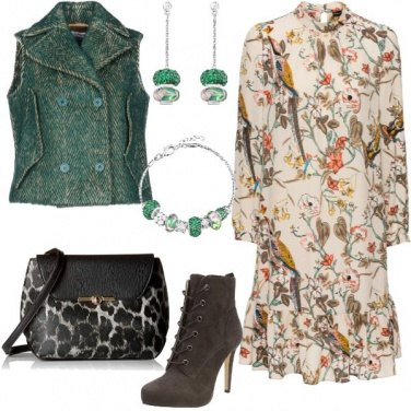 Outfit Un mix floreale in Autunno