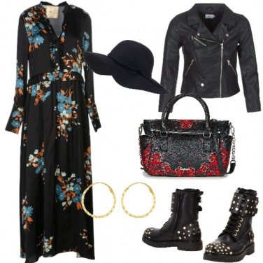 Outfit Trendy con fantasia floreale